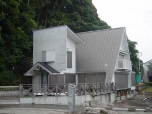 T社別荘改修後側面